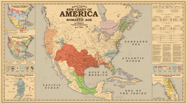 New Chart of America during the Romantic Age