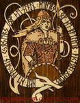 Valkyrie Pyrographic Plaque