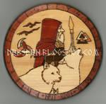 Odin round plaque