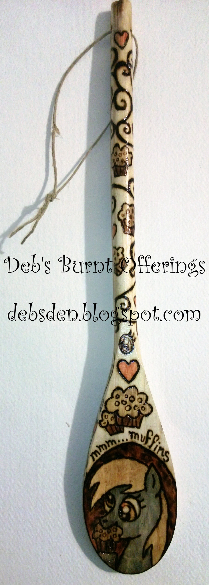 I Heart Muffins - Derpy Hooves wooden spoon