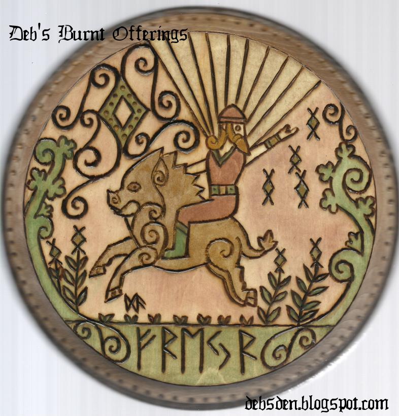 Freyr Round Plaque