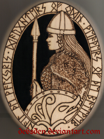 Valkyrie Woodburning by DebsDen