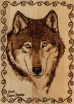 Woodburning Wolf Portrait
