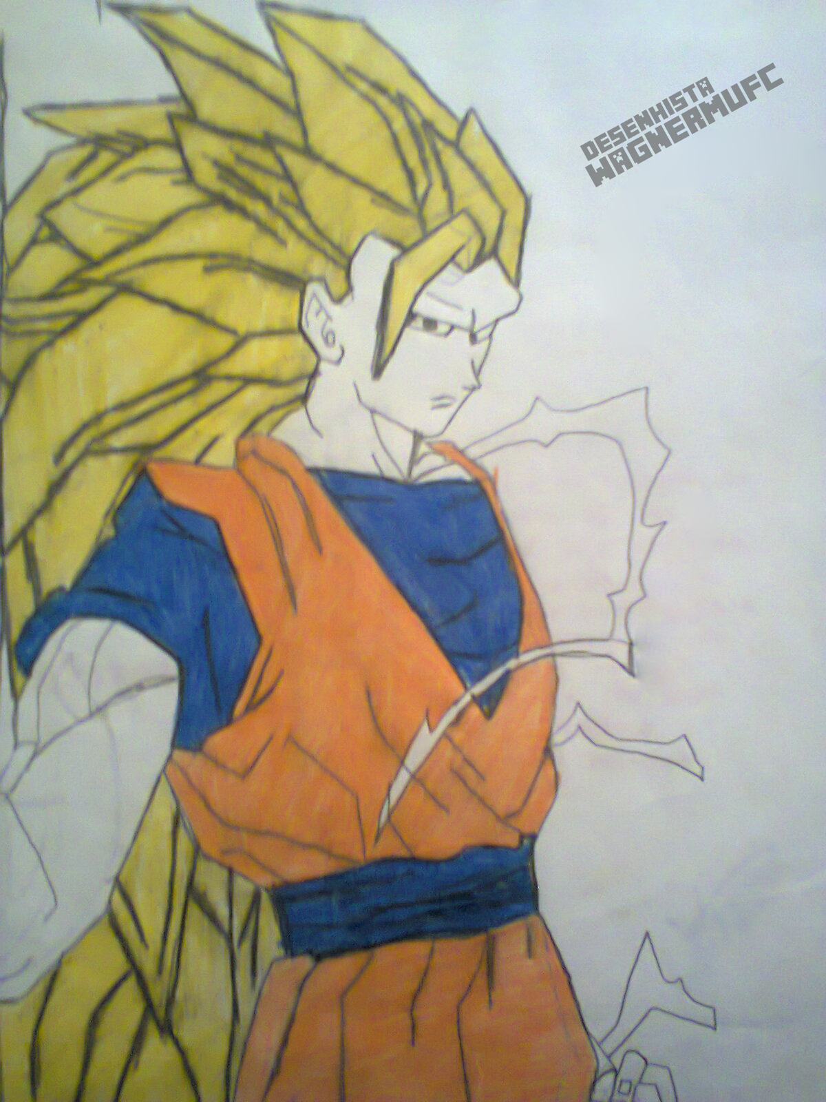 Goku Super Sayajin 3 Dragon Ball Z Desenho By Wagnermufc