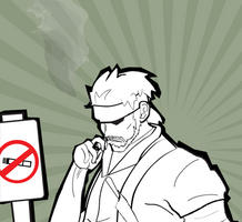 Snake's Smoke Break by the-lagz