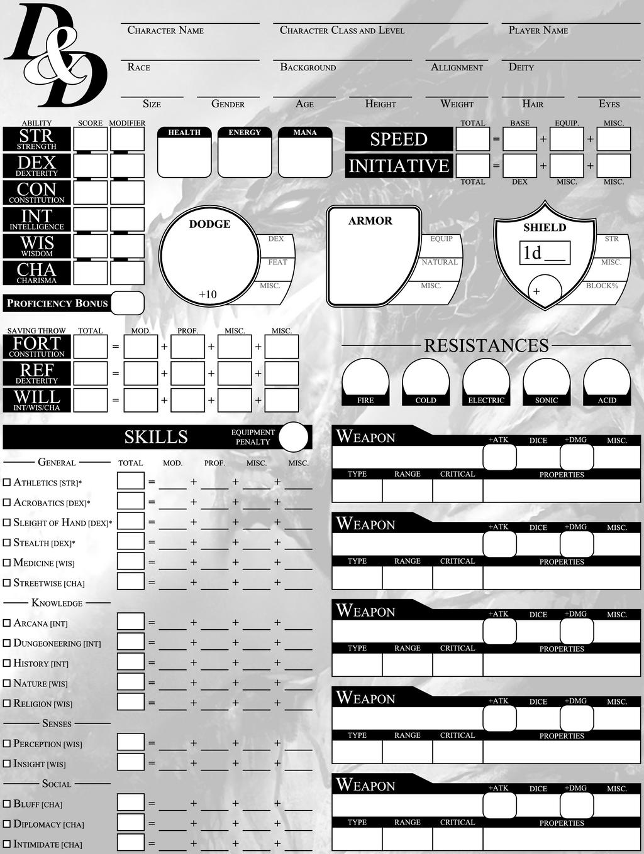 earthdawn 4th edition character sheet pdf