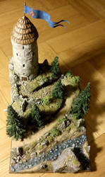 Mountain tower by KurutteiruKenroh