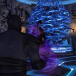 Noob Saibot vs Shinnok by thedarksaiyan