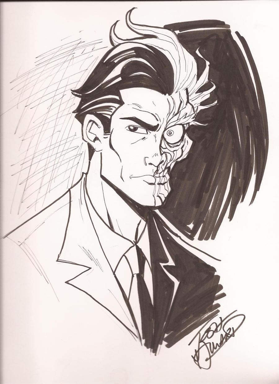 Two face Sketch by Josh Howard by greenman45 on DeviantArt