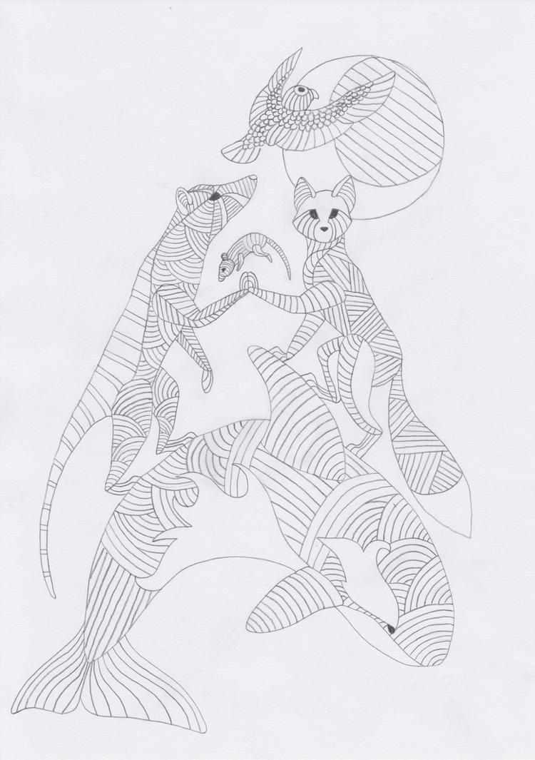 Totem: Animals by pandemoniumfire