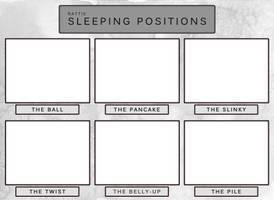 Rattie Sleeping Positions by pandemoniumfire