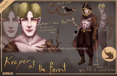 [OPEN] Adoptable Auction : Keeper of the Forest by BlonkBlank