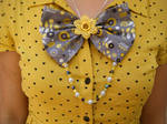Fabric Bow Necklace