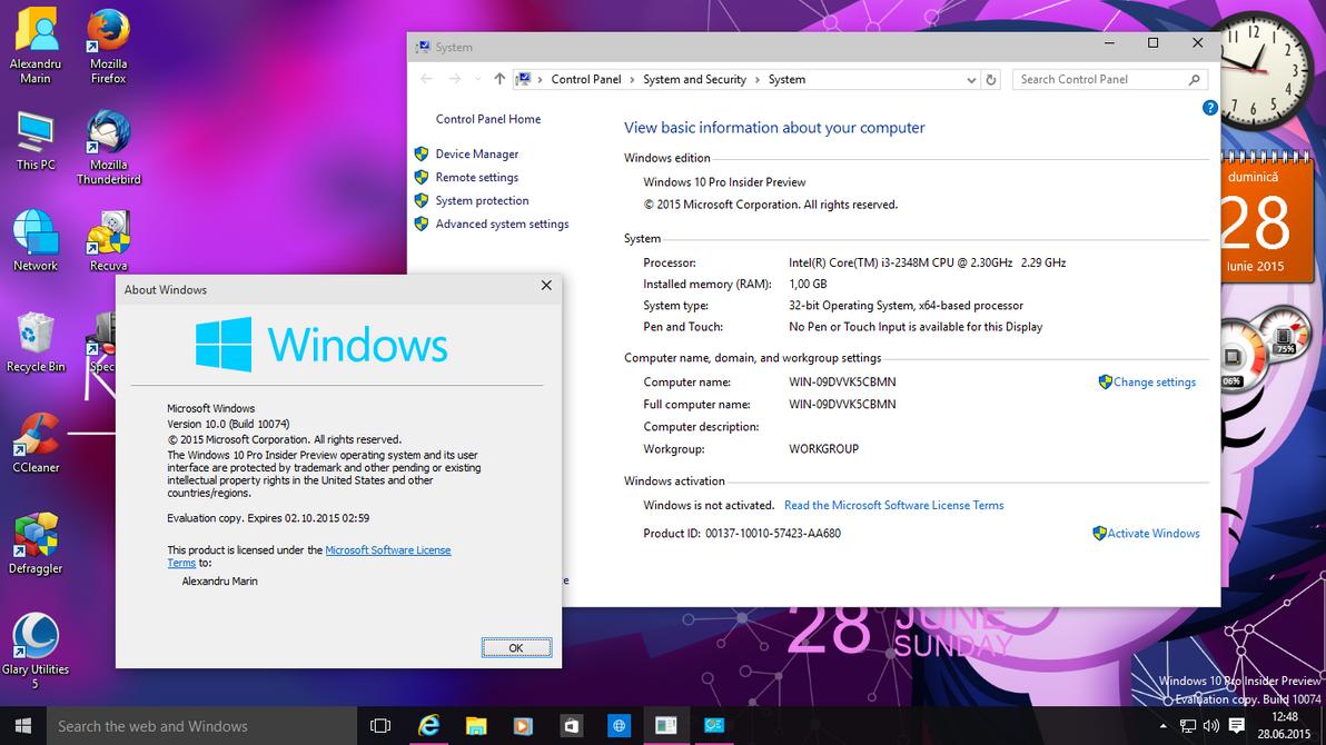 Windows 10 pro ip build 10074 by alexandru087 on deviantart windows 10 pro ip build 10074 by alexandru087 ccuart Images