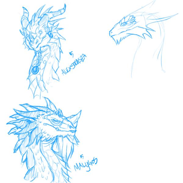 Artistic Aspects : Dragon aspects wip by insanitation on deviantart