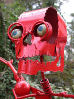Red Skeleton Overdoes His Exercise by sclptrjoel
