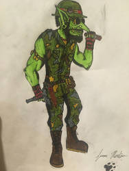 Goblin Commando by roguegoblincommander