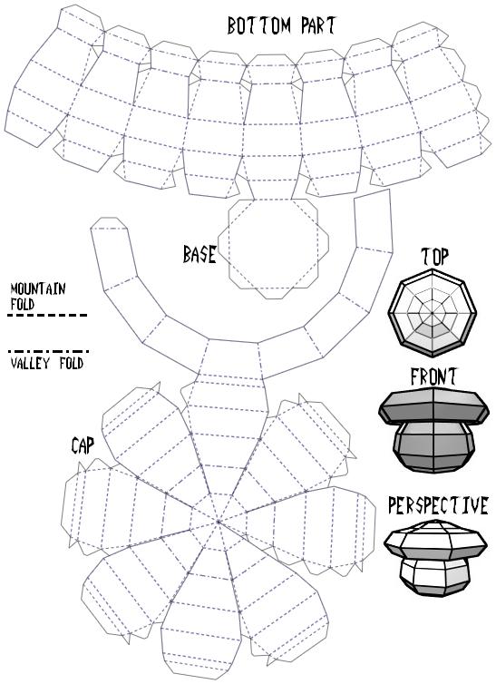 mushroom template by jaxmp on deviantart