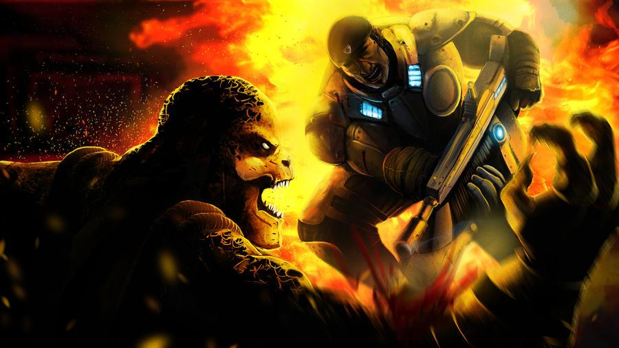 Gears of War by rhou