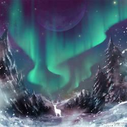 Winter night by Daisy-Flauriossa