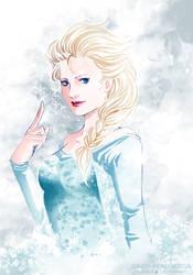 Elsa - Frozen by Daisy-Flauriossa