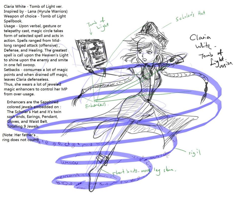 Meian sketch : Claria Tomb of Light version by caterpillartomoko