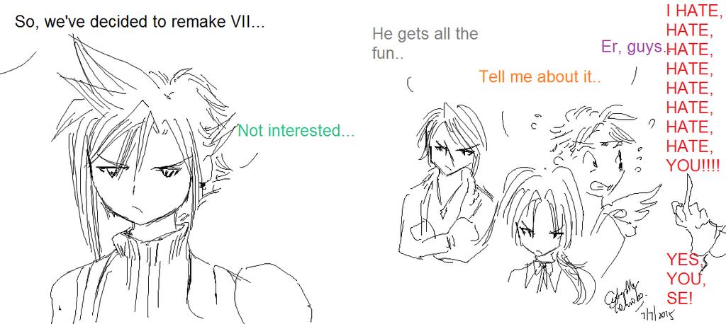 VII remake reactions by caterpillartomoko