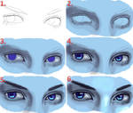 Realistic Eyes Steps