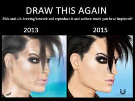 Draw This Again Meme ~ Bill Kaulitz by Chrystall-Bawll