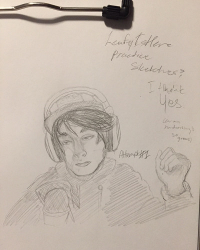 First Attempt at Drawing LeafyIsHere by SombrasSombrero2013