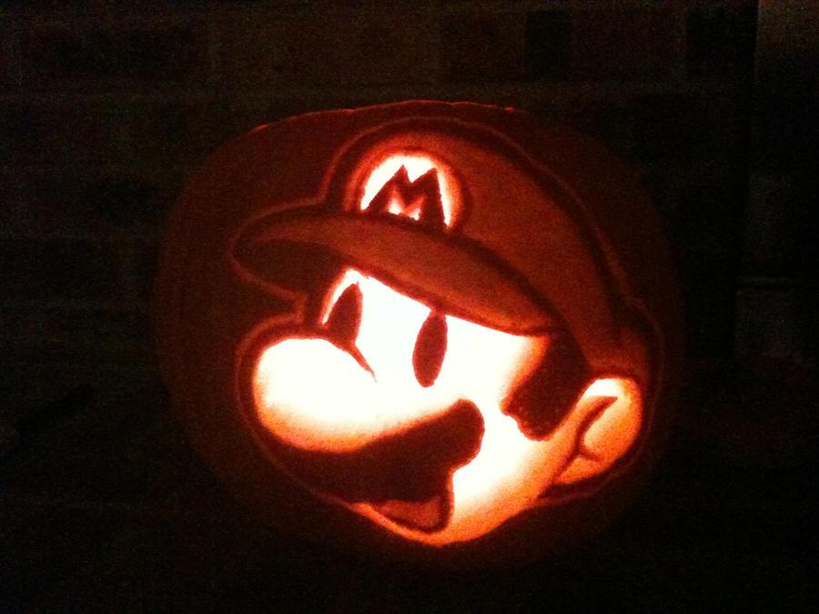 Mario pumpkin by xsirtwitchx on deviantart