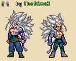 Dragon Ball AF - Goku and Vegeta SSJ5