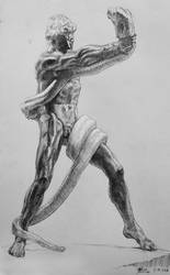 Leighton's Python Wrestler by Nicoll