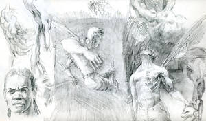 Hero musclature studies by Nicoll