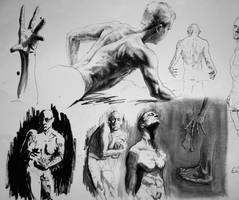 Figure sketches by Nicoll