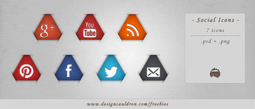 Triangle Social Icons Pack