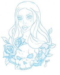 Sketch of SkullWoman