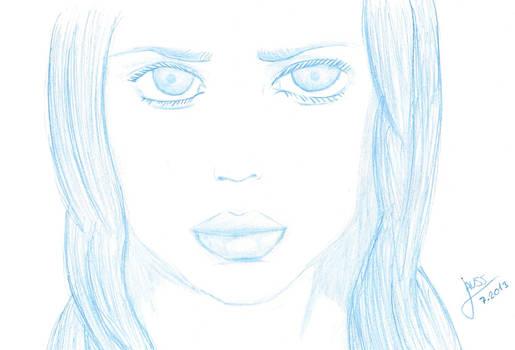 Portrait of girl-Sketch
