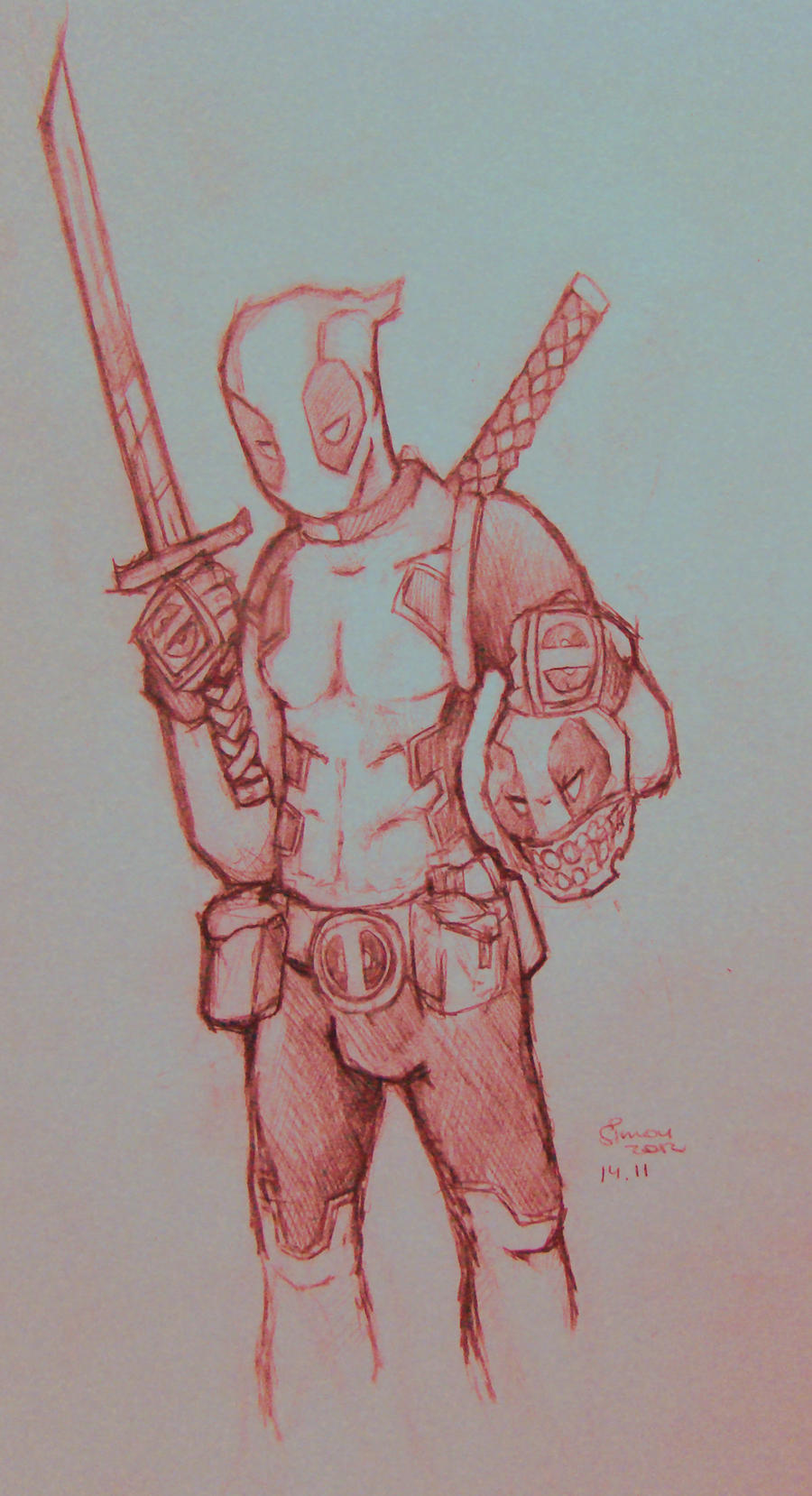 deadpool by SimonTheFox1