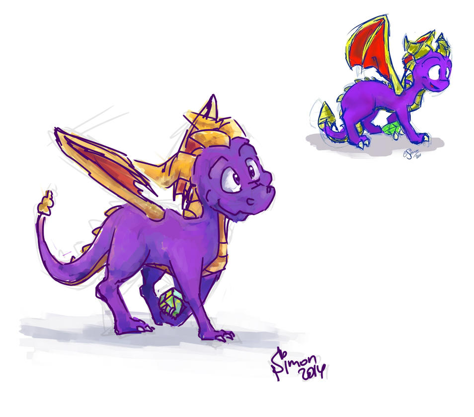 Before - after 2011 - 2014 Spyro The Dragon by SimonTheFox1