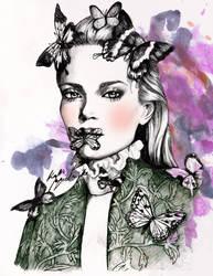 Butterfly queen by katiebloo