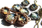 Steampunk jewellery set