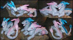 Silver Dragons plush