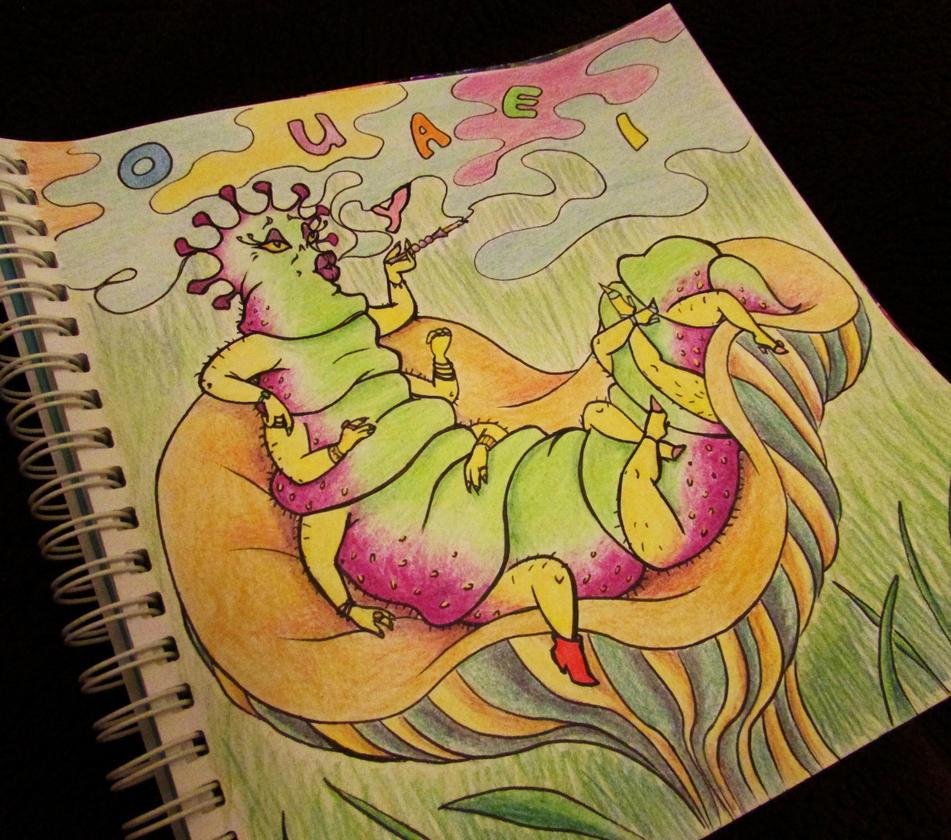 Caterpillar (color) by Liskaza