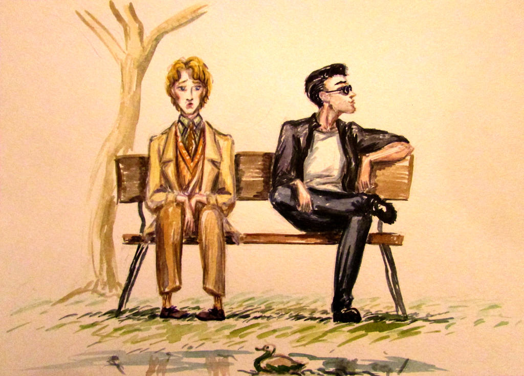 The great conspirators - Aziraphale and Crowley by Liskaza