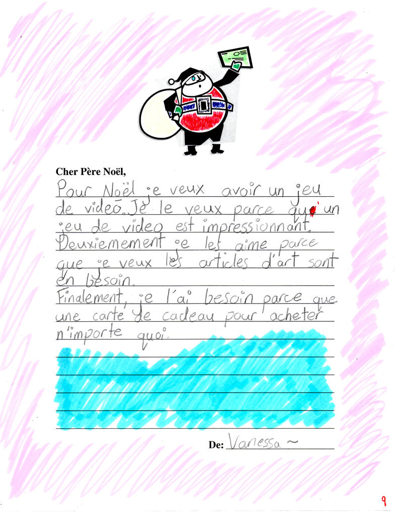 my french santa letter by unidentifiedzombie on deviantart