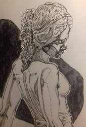 Fancy ink study of a statue by RickMickWithBigBrick