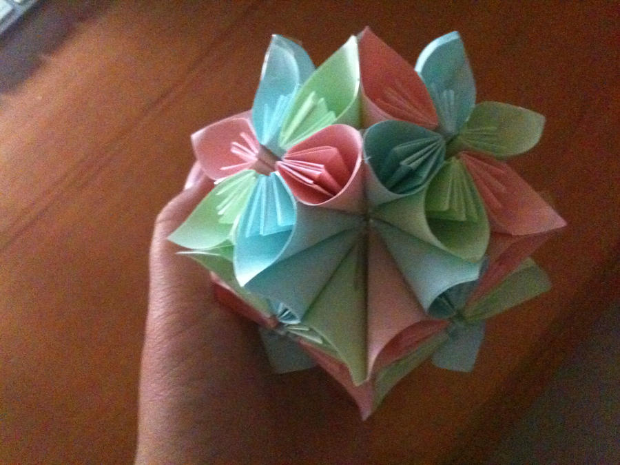 Origami flower ball 2 by atayshia on deviantart origami flower ball 2 by atayshia mightylinksfo