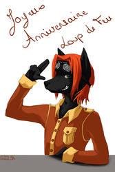 Happy Birthday Loup de Feu by Enitil