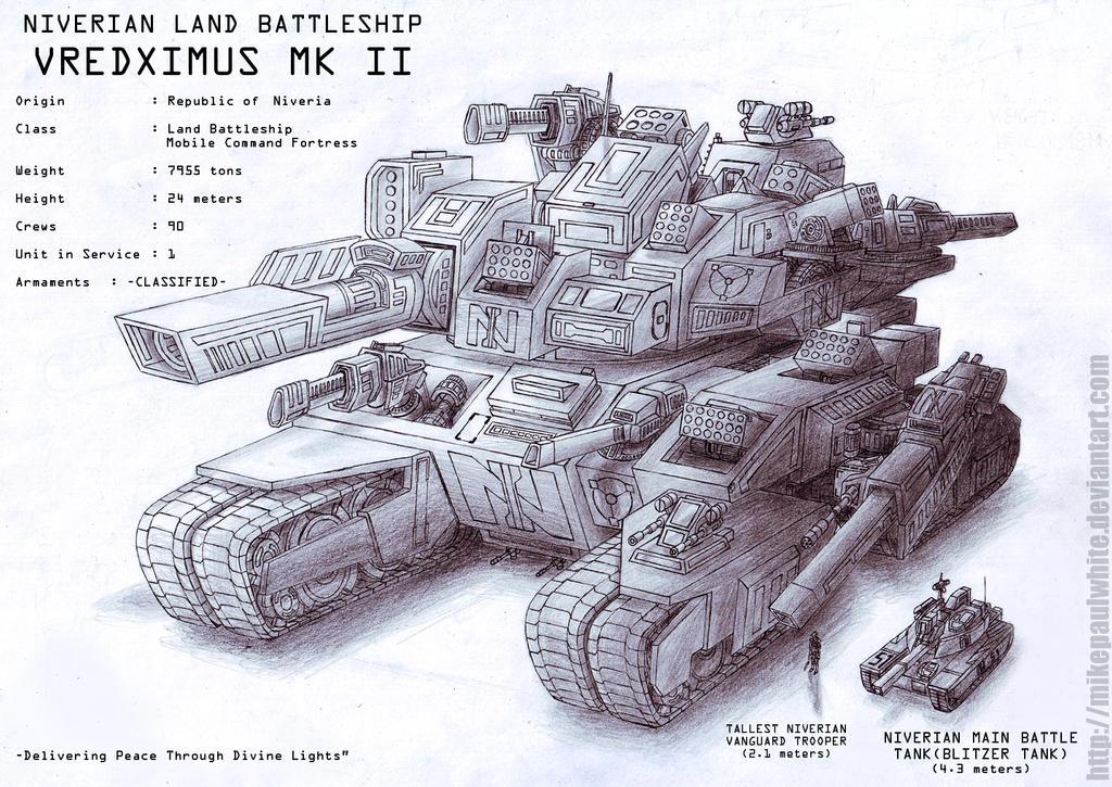 Land Battleship Vredximus Mk II by MikePaulWhite